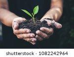 two hands of the men were... | Shutterstock . vector #1082242964
