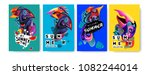 vector colorful summer tropical ... | Shutterstock .eps vector #1082244014