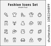 thin line icons set of fashion  ...