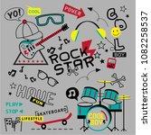 cool kids pattern design vector ...   Shutterstock .eps vector #1082258537