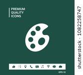 palette for paints | Shutterstock .eps vector #1082258747