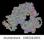 dotted northern ireland map.... | Shutterstock .eps vector #1082261831