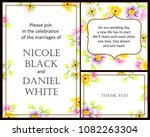 invitation with floral... | Shutterstock .eps vector #1082263304