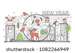 New Year Greeting Card Design...