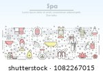 decorative spa service symbols  ...