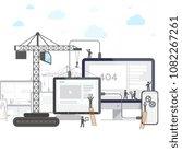 flat design of website under... | Shutterstock .eps vector #1082267261