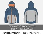fashion technical sketch for... | Shutterstock .eps vector #1082268971