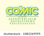vector of stylized comical font ... | Shutterstock .eps vector #1082269595