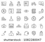 thin line icon set   monitor... | Shutterstock .eps vector #1082280047