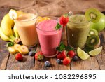 fruit juice  smoothie | Shutterstock . vector #1082296895