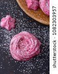 close up meringues on dark... | Shutterstock . vector #1082303957