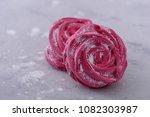 dessert meringues cookies. on... | Shutterstock . vector #1082303987