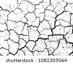 the cracks texture of dry earth....   Shutterstock .eps vector #1082305064