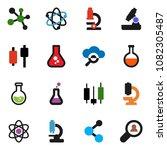 solid vector icon set   atom... | Shutterstock .eps vector #1082305487