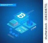 bitcoin infographic vector...   Shutterstock .eps vector #1082308751