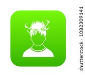 man with dizziness icon digital ... | Shutterstock .eps vector #1082309141
