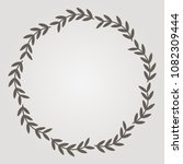 round vector frame made of thin ... | Shutterstock .eps vector #1082309444