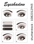 eye makeup. step by step  the... | Shutterstock .eps vector #1082312945