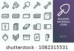 building materials icons set.... | Shutterstock .eps vector #1082315531