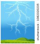 nature thunderstorm over the... | Shutterstock .eps vector #1082320235