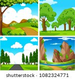 four beautiful green natural... | Shutterstock .eps vector #1082324771