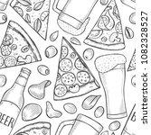 monochrome seamless pattern... | Shutterstock .eps vector #1082328527