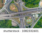 elevated expressway. the curve...   Shutterstock . vector #1082332601