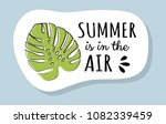 cute summer icon with funny... | Shutterstock .eps vector #1082339459