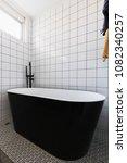 luxury stand alone black... | Shutterstock . vector #1082340257