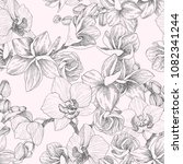 seamless pattern. hand drawn... | Shutterstock .eps vector #1082341244