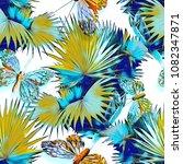Tropical Seamless Pattern. ...