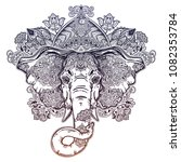 ornate inked decorative... | Shutterstock .eps vector #1082353784