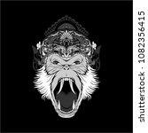 chimp monkey scream | Shutterstock .eps vector #1082356415