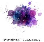 multicolored watercolor... | Shutterstock . vector #1082363579