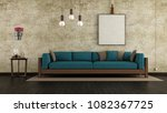 living room with cracked wall...   Shutterstock . vector #1082367725
