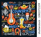 country music illustration set... | Shutterstock .eps vector #1082372159