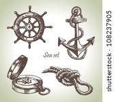 sea set of nautical design... | Shutterstock .eps vector #108237905