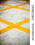 yellow cross on road  no... | Shutterstock . vector #108238061