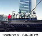 new york city  usa   april 2018 ... | Shutterstock . vector #1082381195