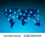 linking entities global network ... | Shutterstock .eps vector #1082384204