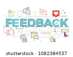 feedback word lettering... | Shutterstock .eps vector #1082384537