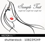 glamour girl with text | Shutterstock .eps vector #108239249
