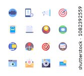 flat colorful icons collection... | Shutterstock .eps vector #1082392559