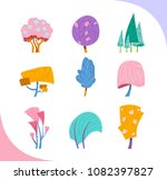 group of decorative fantastic... | Shutterstock .eps vector #1082397827