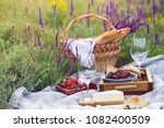 summer   picnic in the meadow... | Shutterstock . vector #1082400509