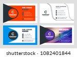 creative business card template.... | Shutterstock .eps vector #1082401844