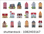 Old European Houses Facade Set...