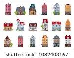 Old European Houses Facade Set...