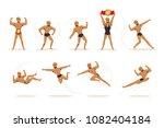 freestyle wrestling fighter in... | Shutterstock .eps vector #1082404184
