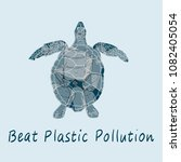 beat plastic pollution vector... | Shutterstock .eps vector #1082405054
